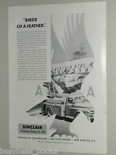 1952 Sinclair Oil advertisement, AMERICAN AIR LINES, oil tanker truck