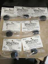 "VINTAGE LOT OF 7 MICROPHONE WIND TECH 1100 SERIES WINDSCREEN 1/4"" & 3/8"" BLACK"
