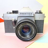 VINTAGE PRAKTICA LLC 35mm Slr Film Camera W:/ 1.8 50mm Pentacon Electric Lens