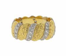 Buccellati Eternelle 18K Gold Diamond Band Ring $15420