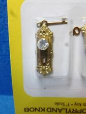 Melody Jane Dolls House Miniature Door Furniture 2 Crystal Provincial Knobs