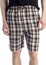 NWT IZOD Mens M 32 34 BLACK PLAID Woven Sleep Shorts Cotton Pajamas