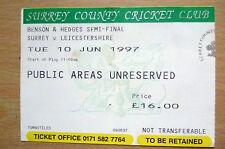 1997 Benson & Hedges Semi Final TICKET- SURREY v LEICESTERHSIRE, 10th June