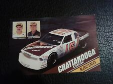 Nascar 1989 David Pearson and Larry Chattanooga Chew #16 Postcard/Hero Card