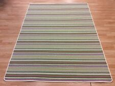 Striped Crucial Trading Biscayne LINE Green Purple Wool Rug XL 179x250cm 60%OFF