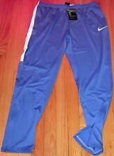 NIKE DRY ACADEMY SOCCER TRAINING PANTS BLUE/WHITE MEN'S SIZE L LARGE