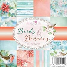 "New Wild Rose PAPER PACK SET 6 X 6""  BIRDS & BERRIES 36 sheet free us ship"