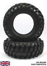 2 X Rc Tout Terrain Rock Crawler Camion Pneu 1/10 Echelle & Inserts en Mousse 1/