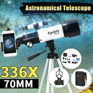 336X 70mm Professional Astronomical Telescope Refractor + Tripod Christmas Gift