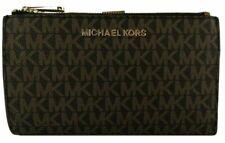 Michael Kors Jet Set Travel Portafoglio per Donna - Brown PVC/Dark Acorn