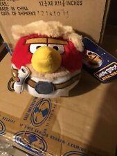 "Angry Birds Star Wars Luke Skywalker Stuffed Plush Toy Red Bird 5"""