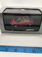 1:43 VW New Beetle Cabrio 2003 AutoArt Diecast Model Red