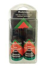 Safehaus Mini Spray Defensa propia identificador criminal Paquete de 2