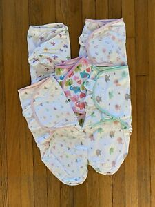 Girls Neutral Swaddle Me Summer Small Medium Sm/md Lot Of 5 Infant Swaddlers
