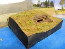 1:72, - 1:87, Großer Bunker, Holz, & Pak 40, aus Stewalin, unbemalt, f.Diorama