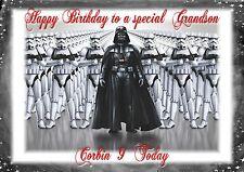 Personalised birthday card star wars darth vader