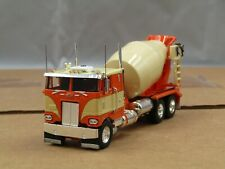 Dcp Custom stretched frame orange/tan Peterbilt 352 cement truck 1/64