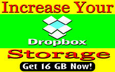 (1 DAY) Dropbox 16GB  Upgrade Lifetime Service Storage 18GB positive comments