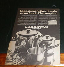 Advertising Italian Pubblicità Werbung : LAGOSTINA THERMOPLAN **1977**