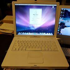 "Apple iBook 14.1"" A1055 M9627LL/A 2004 dual boot osx10.5.8 ubuntu 16.04 1.33ghz"