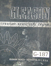 Gleason  Beveled Gear System Tooth Proportion, 13 - 30 per pinion, Manual 1942