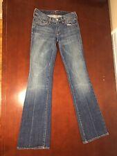 7 For All Mankind Women's Medium Wash Straight Leg Jeans Waist 25 Inseam 31