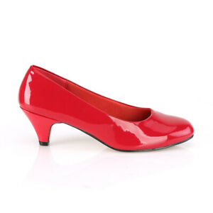 Red Low Heels Mens Crossdresser Drag Queen Shoes Pumps Womans size 13 14 15 16