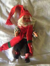 """Vtg Arne Hasle Posable Christmas Gnome Dolls Norwegian Boy Elf Troll 12"""""""