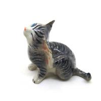 size L ceramic cat dollhouse figurines porcelain animal vintage Tiny miniature Q