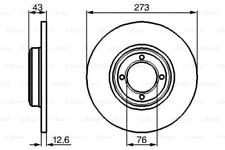 2x Bremsscheibe für Bremsanlage Vorderachse BOSCH 0 986 478 091