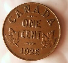 1928 CANADA CENT - Great Early Date Coin - FREE SHIPPING - Big Canada Bin