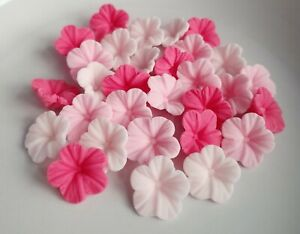 30 Edible Sugar Paste Flowers, Mother's Day Cake Decorations Cupcake Topper