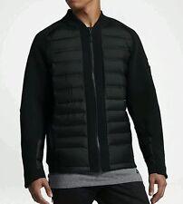 Nike NSW Sportswear Tech Fleece Aeroloft Bomber Black Down 2XL Jacket 806837-010