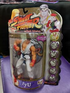 Street Fighter Action Figure Ryu Resaurus Players MINT SEALED Alpha 3