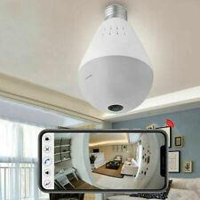 Home 360° Panoramic WiFi Bulb Hidden Camera Night Vision Light Security 128GB AC