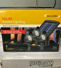 (3) Intermatic Malibu Solar Yard Landscape Garden Black Floodlight Spotlight NEW