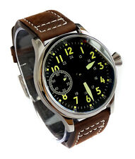 Smart AVIATORs 44mm PILOT's Hand Wind 6497 Vintage Style Army Military Watch