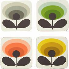 ORLA KIELY House - Set of 4 Coasters - 70's Oval Flower / Multicoloured
