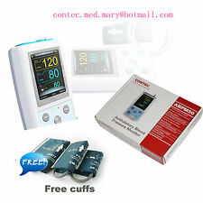 24H Ambulatory Digital Blood Pressure Monitor,Holter NIBP +3 cuff CONTEC ABPM50
