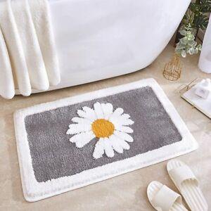 Bath Mat Bathroom Non-Slip Rug Floral Absorbent Anti-fall Door Microfiber Mat