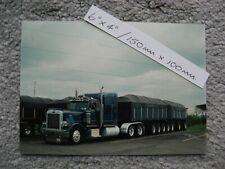 150mmX100mm MICHIGAN SPECIAL PETERBILT 379 10 AXLE B TRAIN TRUCK PHOTO