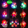 15 Pcs Christmas Light Necklace Christmas LED Flashing Necklaces Party Favors