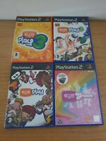 PS2 Playstation 2 Games Bundle Eye Toy 1,2,3 + Eye Toy Groove
