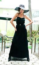 Stradivarius (Zara Group) Black Pleated Maxi Dress Sz S