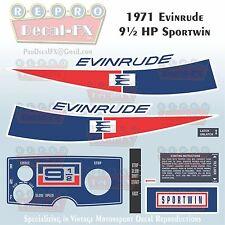 1971 Evinrude 9.5 HP Sportwin Outboard Repro 10 Pc Marine Vinyl Decals 9122-23