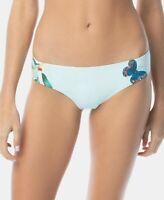 Vince Camuto Women's 243093 Blue Shirred Cheeky Bikini Bottoms Swimwear Size M