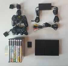 Sony PlayStation PS2 Slim Console Bundle - 7 Games 2 Controllers 1 Memory Card