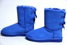 NWOB UGG Australia Bailey Bow Shearling Exotic Scales Boot 1007526 Marine Blue 6