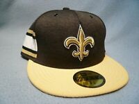 New Era 59fifty New Orleans Saints On Field Home 7 3/8 BRAND NEW Fitted cap hat