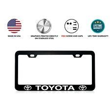 Toyota Stainless Steel Black License Plate Frame